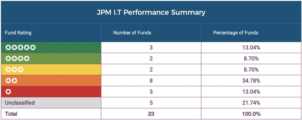 JPM Investment Trust Summary