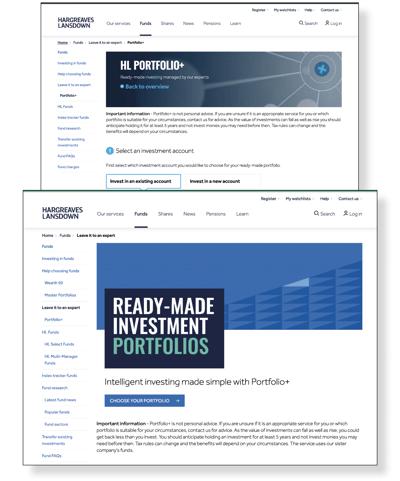 HL readymade portfolios