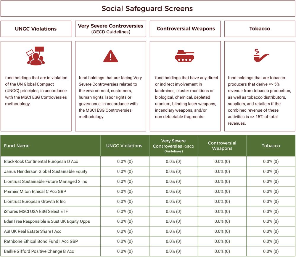 TOP 10 ESG Funds ESG Criteria
